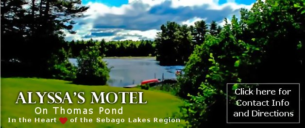 Alyssa's Hotel on Thomas Pond in the Heart of the Sebago Lakes Region