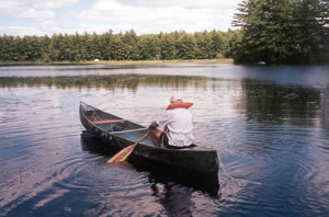 Canoeing on Thomas Pond